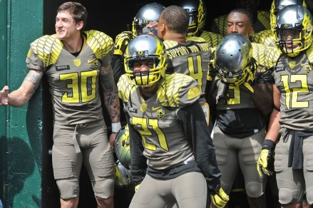 The defense getting fired up before the game.