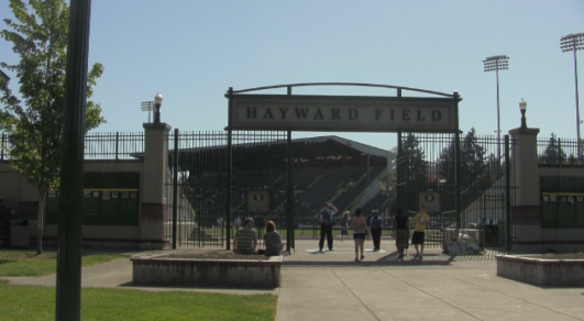Main gate to Hayward Field