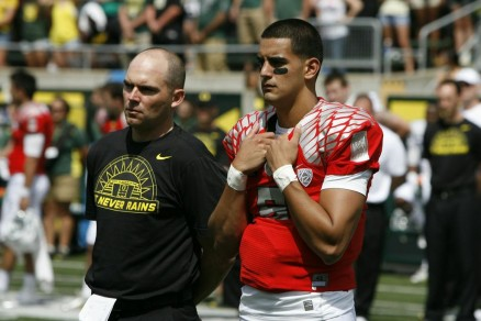 Mark Helfrich and Marcus Mariota