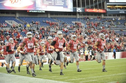 The Cougars taking the field.