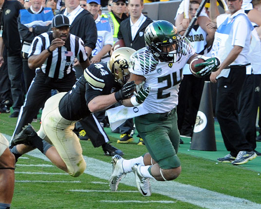 Thomas Tyner got a touchdown against Colorado