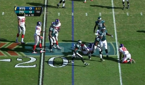 Tough Eagles D, tackle for loss