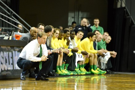 The Oregon bench has out-scored its opponent's bench in 20 of the total 24 games this season.