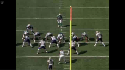 The Dolphins lined up in the tackle over set.