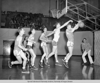 Bob Taggesell leading the team in 1949