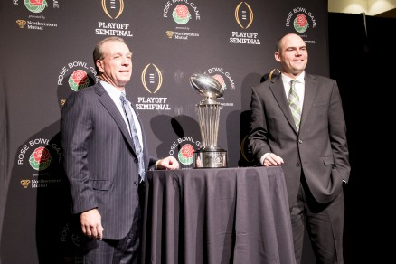 If you need a reminder of recent victories ... here is Mark Helfrich at the Rose Bowl