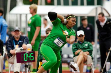 During the NCAA Championships, Brittany Mann finished 7th place with a 17.07 shot put throw.