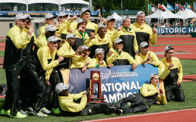 The 2014 National Track & Field Champions, the University of Oregon men, look to repeat in 2015.