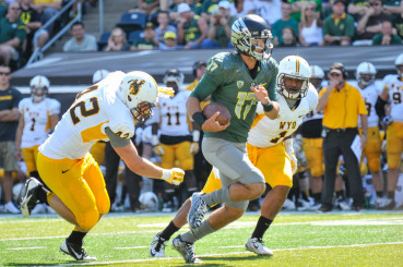Jef Lockie has established himself as a contender for the starting job, and Helfrich knows it.