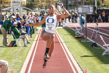 Jasmine Todd, one of the school's top  sprinters is also ranked in the nation as one of the top long jumpers