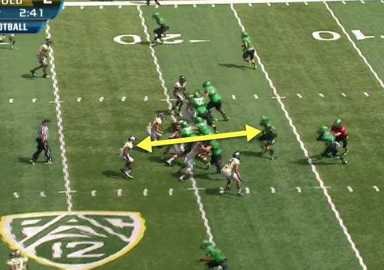 A classic match-up of blocking back against the linebacker!
