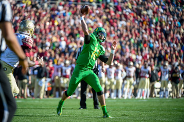 Oregon meets Florida State in the 101st Rose Bowl, and first ever National Playoff Semifinal game January 1, 2015.