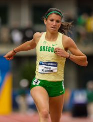 Jenna Prandini missed the Pac-12 Meet, but should be at full strength for the NCAAs.