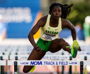 Sasha Wallace represents the deep Ducks squad in the 100m hurdles.