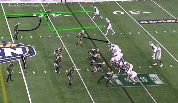 The simple out and go routes can be very effective.