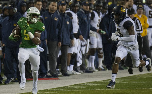 Oregon ran away with the game