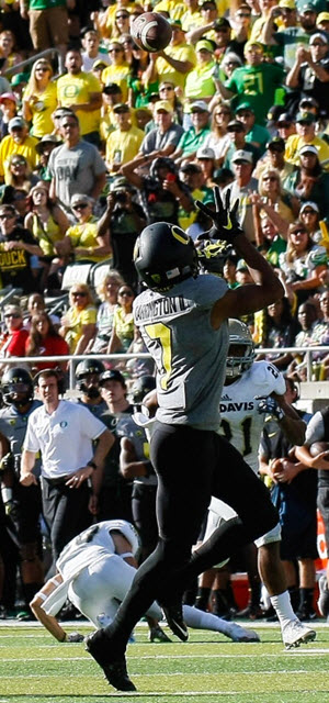 Carrington watches it for a TD!